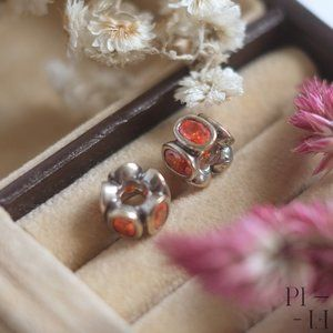 Authentic Pandora red/orange Charms